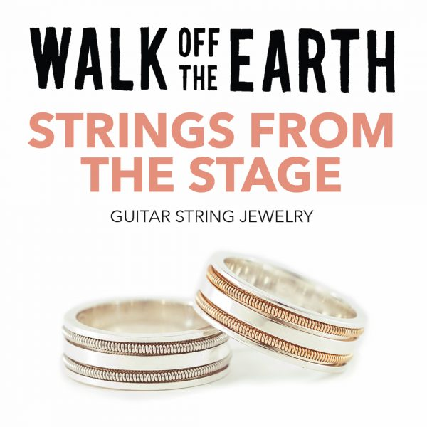 guitar string rings made from Walk Off The Earth's stage-played guitar strings